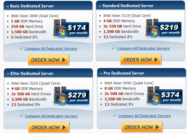 HostGator Dedicated servers Windows
